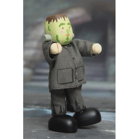 Frankenstein poppetje om mee te spelen in een poppenhuis met poppetjes van ongeveer 10 cm groot.