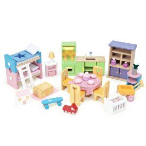 Houten poppenhuis meubeltjes starterset Le Toy Van ME040