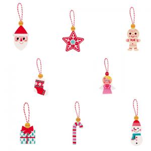 houten hangers voor in kerstboom