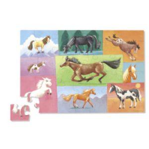 Paardenpuzzel verschillende paarden