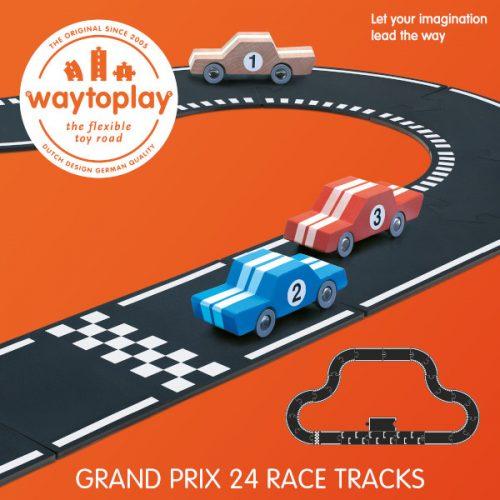 waytoplay grand prix set 24 delige wegenset