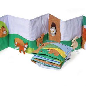 vouwboek over bosdieren
