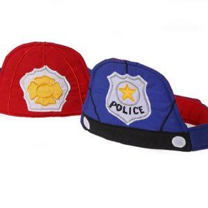 omkeerbare politie en brandweer muts