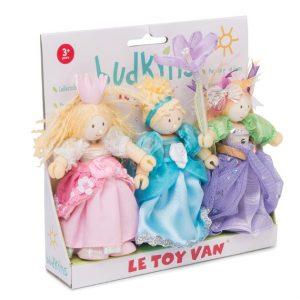 BK918 3 mooiste prinsessen set poppenhuispoppetjes