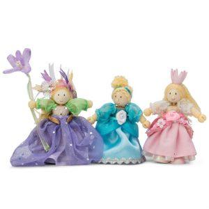 BK918 Budkins poppenhuis poppetjes 3 prinsessen set