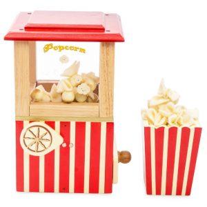 LTV318 houten popcornmachine met draaiknop om te laten poppen