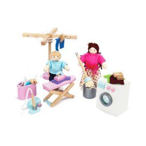 ME038 wasruimte set voor poppenhuispoppetjes