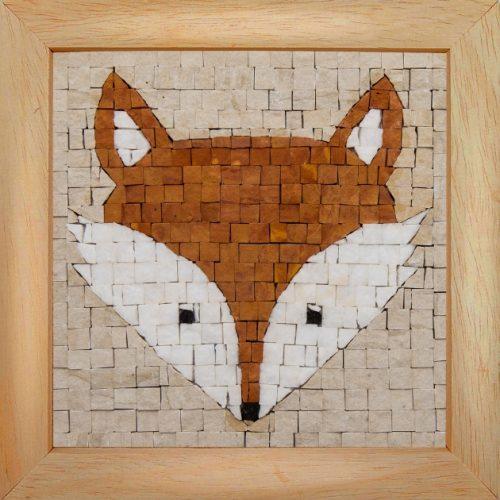 DIY mozaiek schilderij vos in lijstje KIT