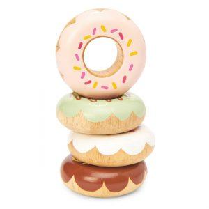 TV332 4 houten donuts