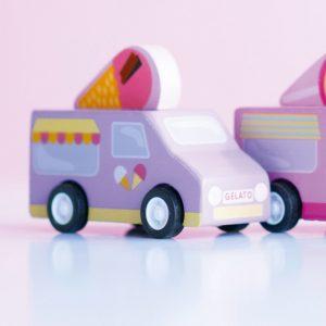 TV817 pull back auto ijsjes busje paars