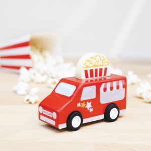 TV817 pull back busje rood popcorn