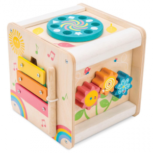 PL105 Kleine houten activiteiten kubus