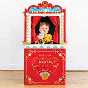 TV333 Stevige houten poppenkast met ticket- en snackverkoop raampje