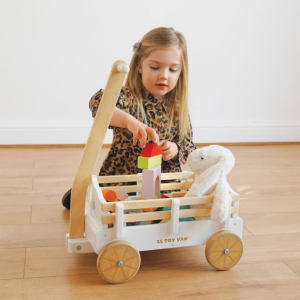 TV602 houten bolderkar voor speelgoed