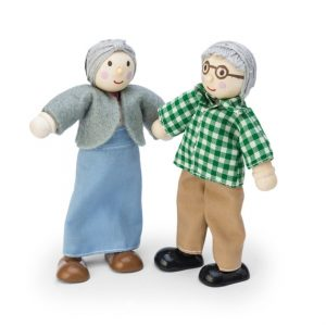 Opa en oma poppenhuispoppetje