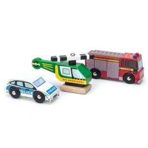 TV465 noodvoertuigen set politie, brandweer, ambulance