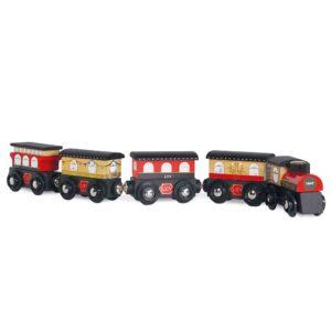 rode houten trein TV710